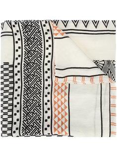 шарф с комбинированным принтом A Peace Treaty