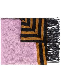 меховой шарф  с панельным дизайном A Peace Treaty