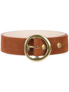 ремень с круглой пряжкой B-Low The Belt
