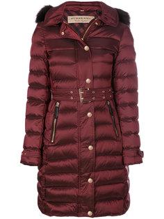пальто-пуховик с поясом Burberry