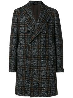 однобортное пальто в клетку Tagliatore