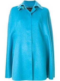объемное пальто-накидка Versace