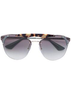 массивные солнцезащитные очки Prada Eyewear