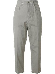 укороченные брюки с высокой талией Rick Owens DRKSHDW