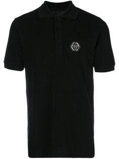 футболка-поло с бляшкой с логотипом Philipp Plein