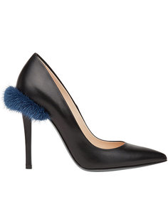 туфли-лодочки с меховой деталью Fendi