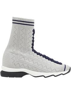 облегающие кроссовки в стиле носков Fendi