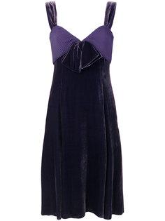 платье с завышенной талией и бантом  Armani Collezioni