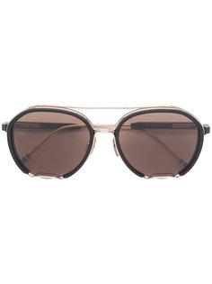 солнцезащитные очки с металлической деталью Thom Browne Eyewear