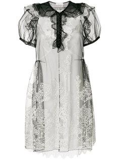 платье мини из органзы Chloé