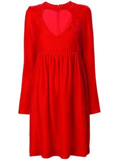 бархатное платье с вырезом стиля сердце Chloé