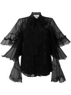 блузка из органзы с вышивкой Chloé