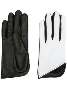 двухцветные перчатки Manokhi