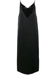 свободное платье с V-образным вырезом Yang Li
