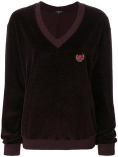 бархатный свитер с гербом  Yeezy