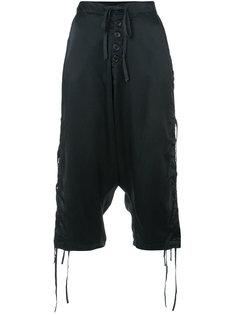 укороченные декорированные брюки Greg Lauren