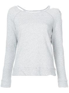 асимметричный свитер  с потертой отделкой Greg Lauren