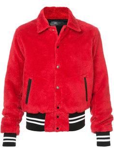 куртка-бомбер из искусственного меха Amiri