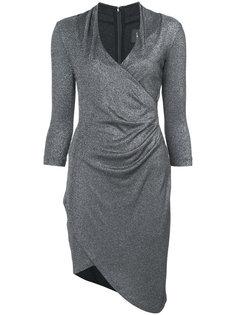 асимметричное платье с V-образным вырезом Nicole Miller