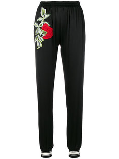 спортивные брюки с цветочной вышивкой Philipp Plein