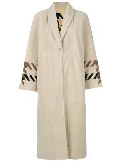 однобортное пальто Sprung Frères