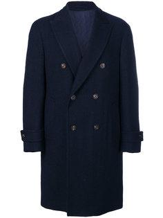 классическое двубортное пальто Delloglio