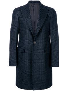однобортное пальто в клетку Delloglio