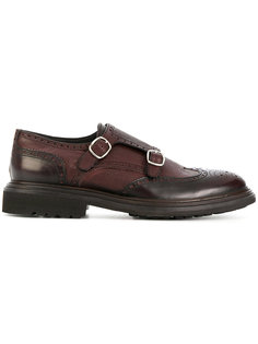 туфли-монки с ремешками Delloglio