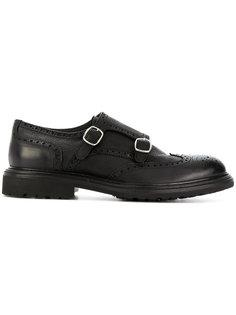 туфли-монки с лямками на пряжках Delloglio