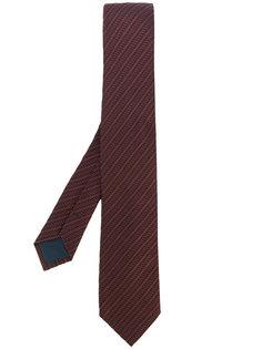 галстук в диагональную полоску Delloglio