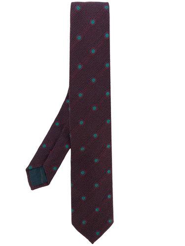галстук  с узором в горох Dell'oglio