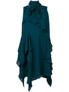 платье шифт с оборками Elie Saab