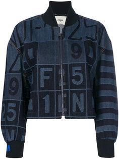джинсовая куртка-бомбер Fendi