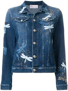 джинсовая куртка со стрекозами Red Valentino