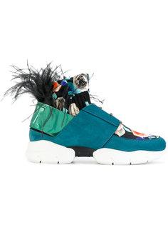 кроссовки с перьями MSGM