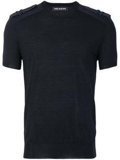 футболка с отделкой на плечах Neil Barrett