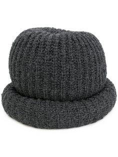 шапка в рубчик с подвернутыми краями Marc Jacobs