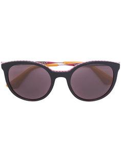 солнцезащитные очки с зигзагообразными элементами  Prada Eyewear