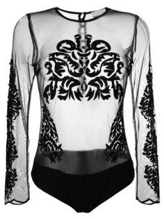 полупрозрачное боди с вышивкой  Aniye By
