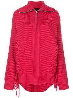 свитер в рубчик со шнуровкой  Barbara Bui
