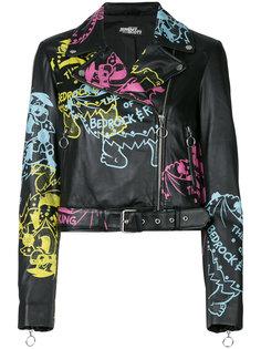 байкерская куртка с принтом Jeremy Scott