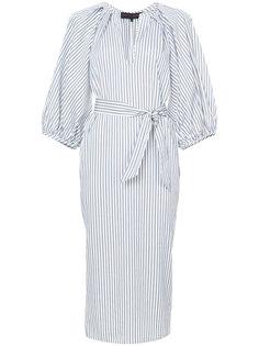 полосатое платье-рубашка кроя миди Martin Grant