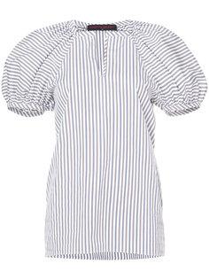 полосатая блузка с буффами на рукавах Martin Grant