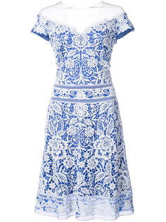 crochet lace off-the-shoulder dress Tadashi Shoji