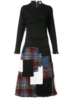 расклешенное платье с заплатками Sonia Rykiel