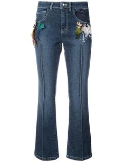 расклешенные джинсы с отделкой перьями Sonia Rykiel