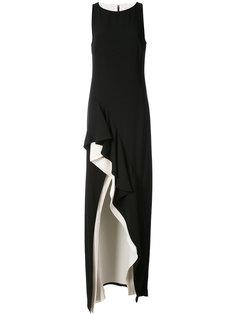 вечернее платье с контрастной окантовкой Halston Heritage