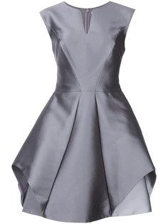 расклешенное платье  с отделкой металлик  Halston Heritage
