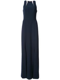 платье с вырезными деталями Halston Heritage