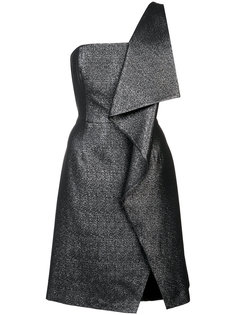 асимметричное платье с отделкой металлик Halston Heritage